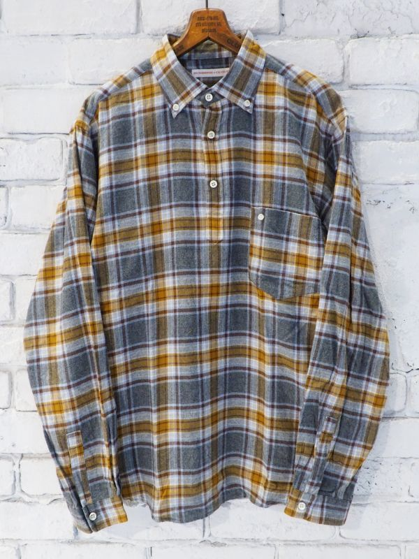 画像1: SUNSHINE+CLOUD 別注フランネルチェック スリップオンシャツ (1)