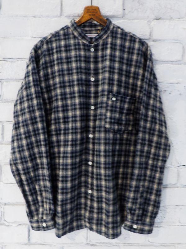 画像1: SUNSHINE+CLOUD 別注フランネルチェックオープンスタンダシャツ (1)