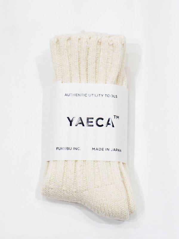 画像1: YAECA COTTON SILK ソックス (1)