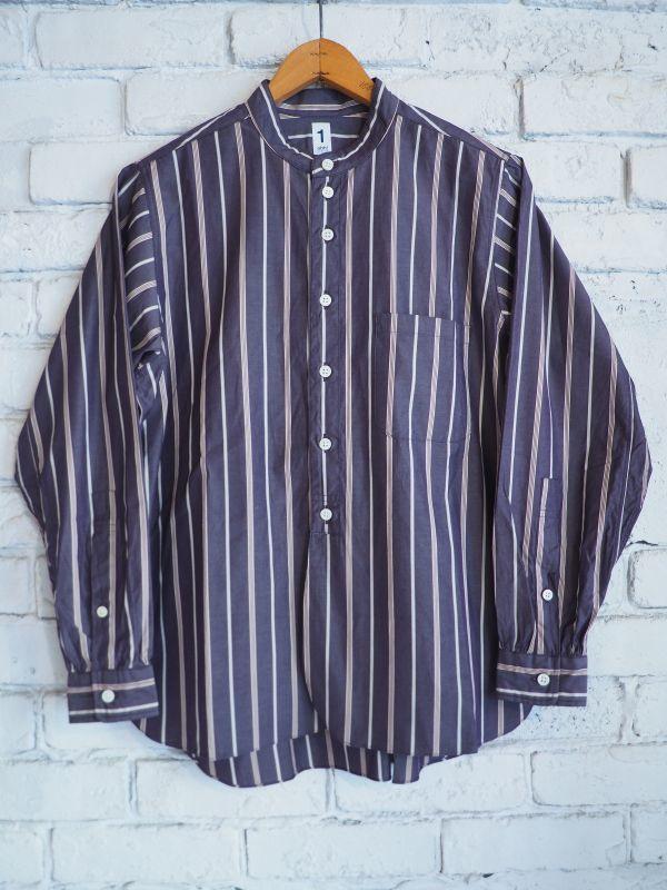 画像1: nisica スタンドカラーシャツ (1)