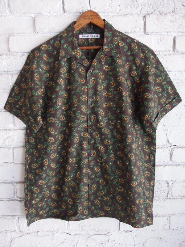 画像1: R&D.M.Co- / OLDMAN'S TAILOR 【MEN'S】 オープンカラーショートスリーブシャツ (1)
