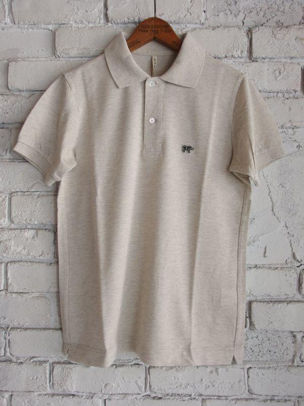 画像1: Scye (レディース) グレーソリッドピケ ポロシャツ (1)