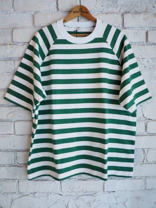 画像1: Scye  ボーダーラグランTシャツ (1)