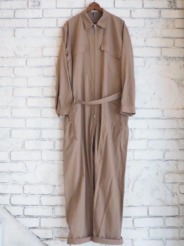 画像1: AURALEE フィンクスハードツイストギャバジンジャンプスーツ (1)