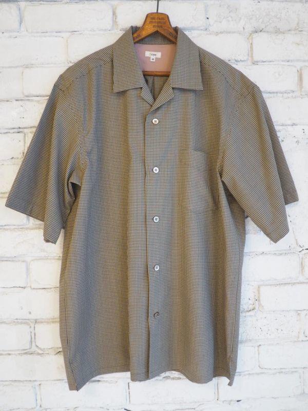 画像1: Scye キャンプカラーチェックシャツ (1)