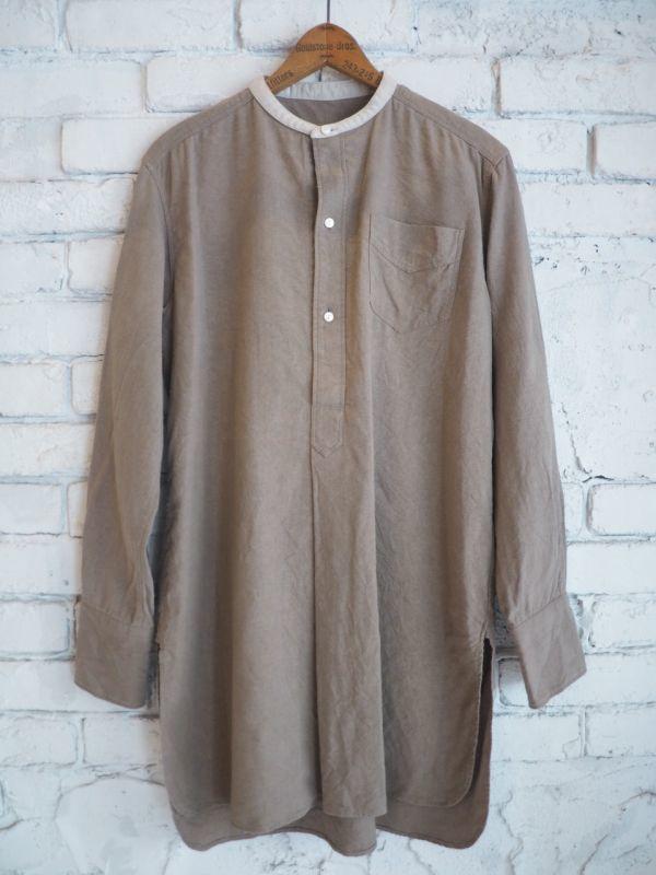 画像1: sus-sous バンドカラーシャツ (1)
