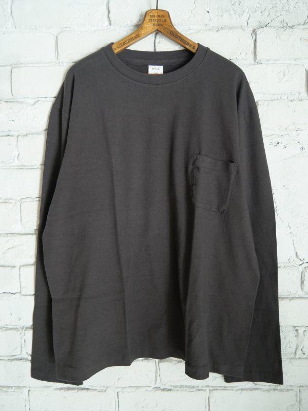 画像1: YAECA(30011)丸胴ポケットクルーネックロングTシャツ (1)