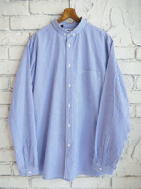 画像1: R&D.M.Co- / OLDMAN'S TAILOR 【MEN'S】 スモールB.Dカラーシャツ (1)