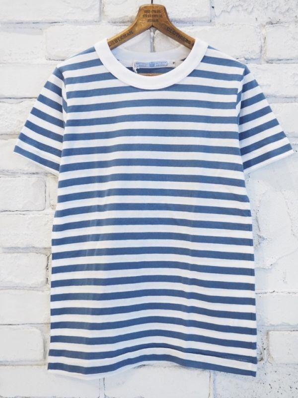 画像1: R&D.M.Co- / OLDMAN'S TAILOR ガーゼボーダーショートスリーブTシャツ (1)