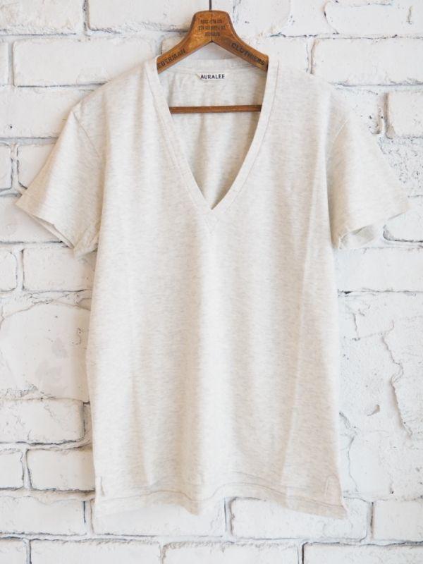 画像1: AURALEE (レディース) シームレスVネックTシャツ (1)