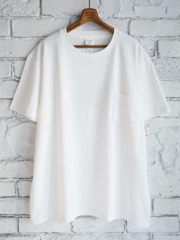 画像1: YAECA(30013)丸胴ポケットクルーネックTシャツ (1)