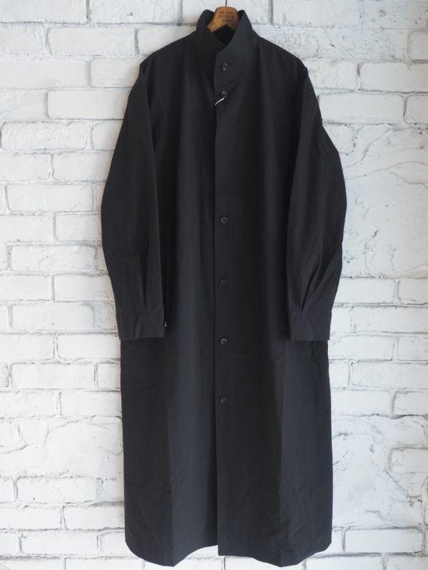 画像1: THE HINOKI コットンボイルパラシュートクロススタンドアップカラーシャツドレス (1)