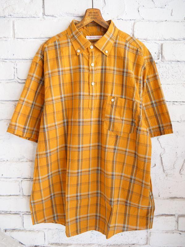画像1: SUNSHINE+CLOUD コットンリネン スリップオン ショートスリーブシャツ (1)