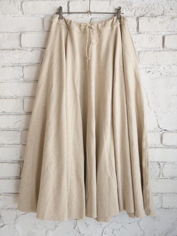 画像1: OUTIL【WOMEN'S】フレンチスウェットギャザースカート (1)