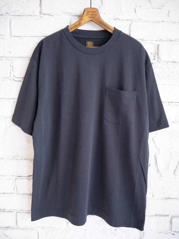 画像1: BATONER ツイストハイゲージテリーポケットTシャツ (1)