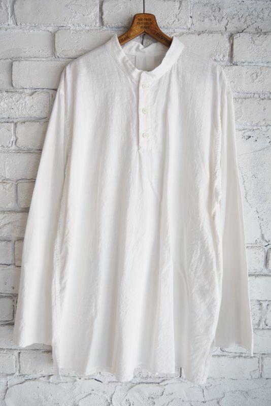 画像1: YAECA (10131)カディコットン クルタシャツ (1)