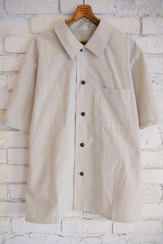 画像1: THE HINOKI オーガニックコットンポプリンWチェック半袖シャツ (1)