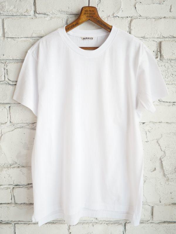 画像1: AURALEE シームレスクルーネックTシャツ (1)
