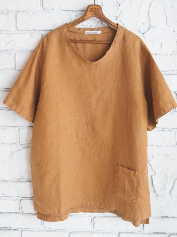 画像1: ●SUNSHINE+CLOUD リネンVネックTシャツ (1)