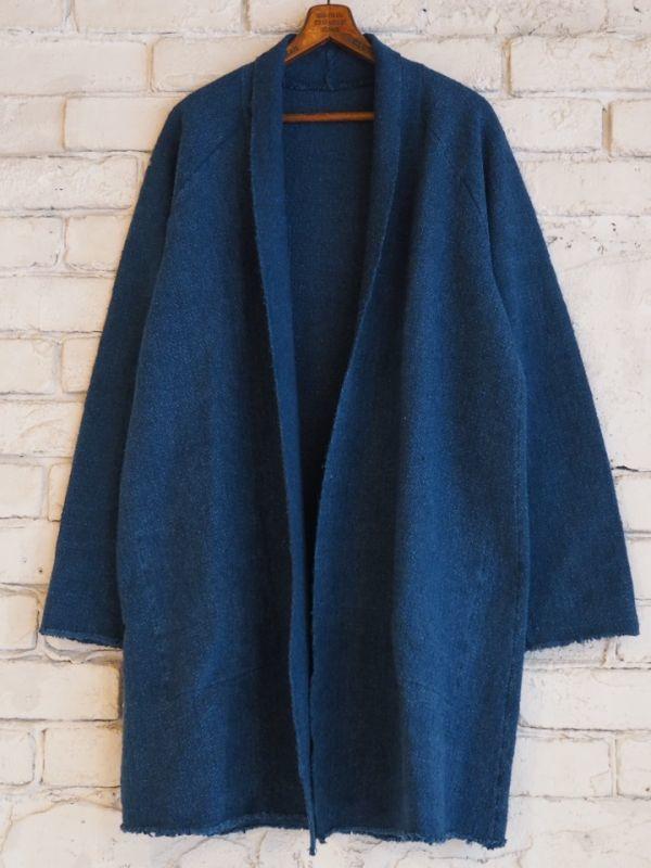 画像1: ●MITTAN JK-03C オーガニックコットンガラ紡ロングジャケット (草木染) (1)