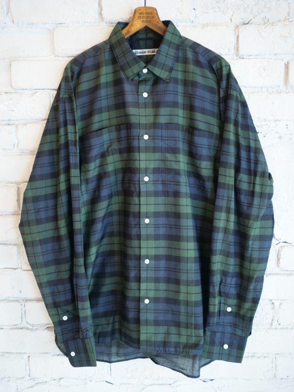 画像1: R&D.M.Co- / OLDMAN'S TAILOR 【MEN'S】 ダブルポケットシャツ (1)