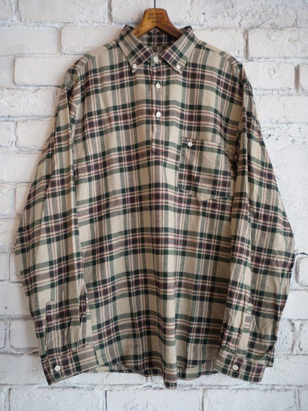 画像1: SUNSHINE+CLOUD スリップオンフランネルチェックシャツ (1)