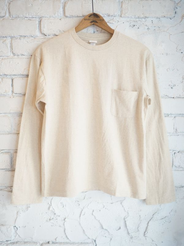 画像1: YAECA (30059) クルーネックポケットTシャツ (1)